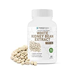 100% Pure White Kidney Bean Extract – All-Natural Carb Blocker 1200mg – Optimized for Weight Loss & Fat Prevention for Women & Men – Made in USA
