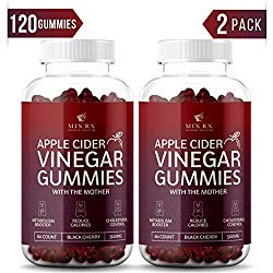 (2 Pack | 120 Gummies) Organic Apple Cider Vinegar Gummies with The Mother – Gummy Alternative to Apple Cider Vinegar Capsules, Pills, ACV Tablets with Delicious Black Cherry Flavor