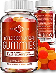Apple Cider Vinegar Gummies (120 Pack) – Gummy Alternative to ACV Pills, Capsules, Tablets & Vitamins – Organic, Raw, Unfiltered with Mother for Weight Loss Supplements – Non GMO – Made in USA