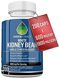 Carb Blocker – 1800 MG – 200 X 600 MG of 100% Pure White Kidney Bean Extract