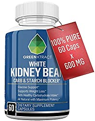 Carb Blocker – 60 X 600 MG of 100% Pure White Kidney Bean Extract – 2 Phase Carb Blocking Benefits (Ingestion and Digestion)