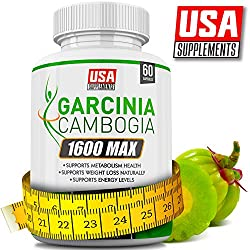 Garcinia Cambogia Extract Capsules – Supplements That Work Fast for Women & Men – Made by USA Supplements