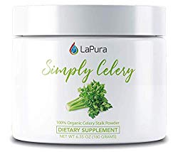 LaPura Organic Celery Juice Powder Supplement – Supports Gut Health, Natural Detox, Energy Boosting (30 Servings)
