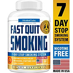 Lung Cleanse & Fast Quit Smoking Aid – Detox Pills for Clear Lungs – Made in USA – Provides Lung Health Support, Asthma Relief & Helps Stop Smoking – Lung Detox & COPD Relief with Mullein & Lobelia