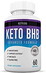 Nutriana Keto Diet BHB Pills – Ketogenic Keto Pills for Women and Men – Keto Supplement BHB Salts – Ketosis Keto Supplement Exogenous Ketones – Keto Pills 60 Capsules