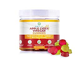 Organic Apple Cider Vinegar Gummies – Unfiltered ACV with The Mother (90Gummies) Alternative to Capsules, Tablets, and Pills – for Detox, Bloating, Metabolism, and Energy – Pectin Based Vegan Non-GMO