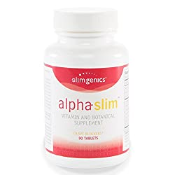 SlimGenics Alpha-Slim TM | Carb Blocker, Block Up to 300 Calories Per Meal – Reduce Cravings, Increase Fat Burning, Includes White Kidney Bean Extract – Promotes Healthy Weight Loss (90 Count)