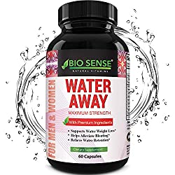 Water Away Supplement Diuretic Pills for Men & Women – Reduce Water Retention Natural Dandelion Leaf Pure Green Tea Juniper Berry Vitamin B-6 for Water Balance and Bloating Relief