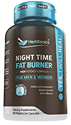 Weight Loss Pills Fat Burner for Night Time + Sleep Aid for Women and Men Appetite Suppressant Supplement and Metabolism Boost with Melatonin Non-GMO 60 Vegan Capsules